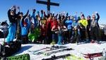 Rekordbeteiligung und Kaiserwetter beim Skitourenwochenende im Ostertal...